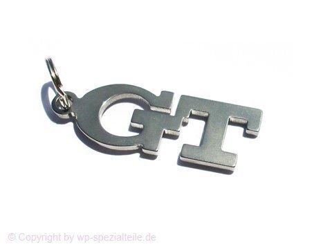 GT Emblem Schlüsselanhänger aus poliertem Edelstahl -