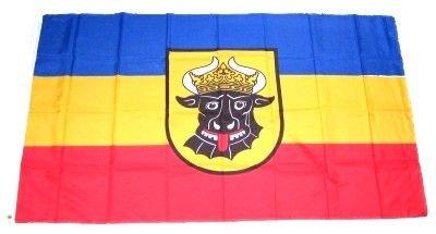 Flagge Fahne Mecklenburg Ochsenkopf alt 90 x 150 cm FLAGGENMAE®