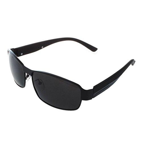 TOOGOO (R) Fashion Driving Glaeser polarisierte Maenner Sonnenbrillen Outdoor Sport Goggles Augenschutz Brille - Schwarz