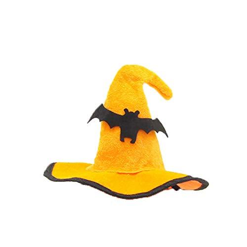 mi ji Halloween-Katzen-Hut Hexenhut Pet-Assistent Kopfbedeckung Partei-Kostüm-Stirnband für Halloween-Kostüm verkleiden Partei-Leistungs-Zubehör Style-2-freie Größe 1PC (Assistenten Kostüm Halloween)