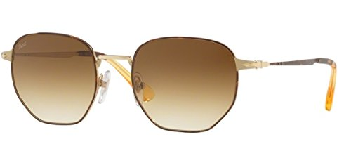 Persol Herren 0Po2446S 107551 52 Sonnenbrille, Gold/Brown