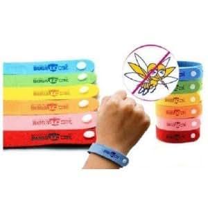 Bugslock - Lot de 50 Bracelets Anti Moustiques de couleur Rose - Citronelle (Bracelet réglable) - Produit de l'été