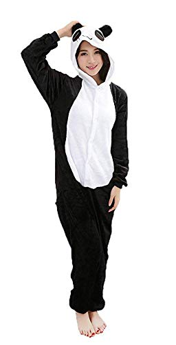 Mädchen Panda Halloween Kostüm - ABYED® Kostüm Jumpsuit Onesie Tier Fasching