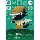 Nintendo Animal Crossing Happy Home Designer Amiibo Karte Kicks 103/200 USA Version