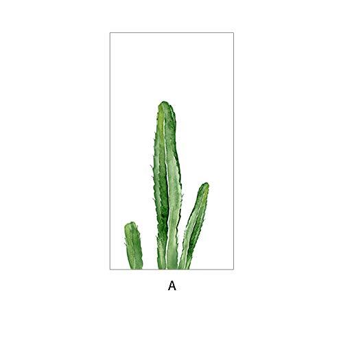 PVCOLL Fensteraufkleber Fensterfolien Tropischer Kaktus Kann Angepasst Werden Mattglasfolie Fensteraufkleber Transparent Opak Badezimmer Aufkleber, 80X120Cm - Tropische Scrub