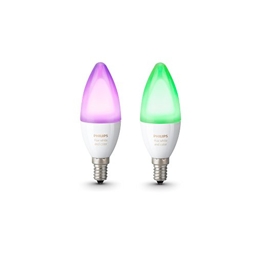 Philips Hue Pack de 2 ampoules connectées White & Color flamme E14