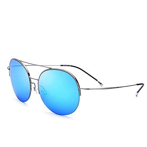 Sport-Sonnenbrillen, Vintage Sonnenbrillen, Elastic Titanium Alloy Sunglasses Men Oversize Round Nylon Lens Women Vintage Sun Glasses For Men Big Face Clearance Sale 8618