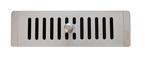 Presa d'aria in alluminio regolabile mm 250 x 78 per armadi ed armadietti, griglia di ventilazione in alluminio, griglia regolabile aperta e chiusa, uscita dell'aria / griglia d'ingresso, feritoia per la ventilazione regolabile ( 250 x 78 x 2)