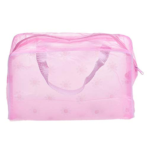 Damen Mädchen Floral Transparente wasserdichte Kosmetiktasche Handtaschen Tasche Rucksackhandtaschen Casual Multifunktionale Umhängetasche Fashion Schultertasche Bags Stofftasche