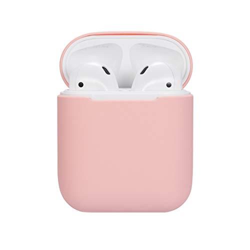 Colorful Für AirPods Tasche Silikonhülle, Schlank und Leicht Hülle Stoßfeste Schutzhülle für Apple AirPods Aufladen Case (Rosa) -
