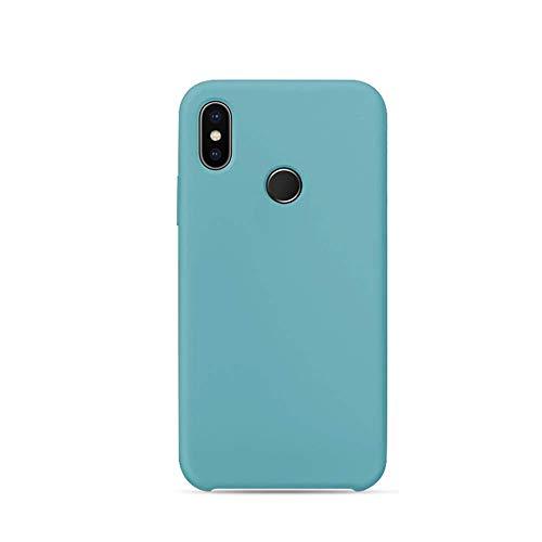 Funda for Xiaomi Mi 8 Carcasa Silicona Colores del Caramelo Protector TPU Ultra-Delgado Anti-Arañazos Caso Caja para Mi 8 SE (Azul Menta, Mi 8)