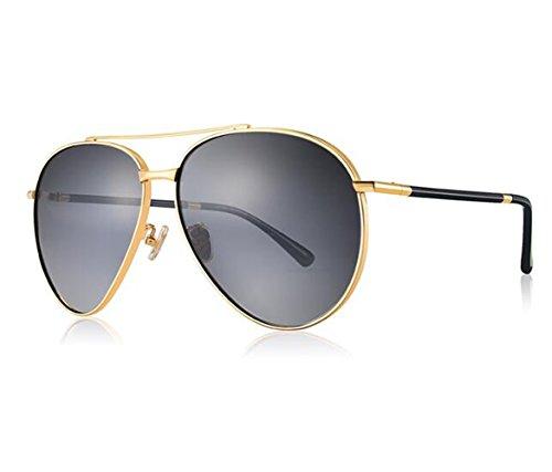 SHULING Sonnenbrille Elegante Optische Offset Sonnenbrille Driver Spiegel, Kim Box/Mit Grauer Stirnfläche