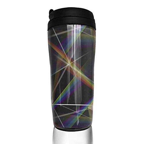 Travel Coffee Mug Prism 12 Oz Spill Proof Flip Lid Water Bottle Environmental Protection Material ABS