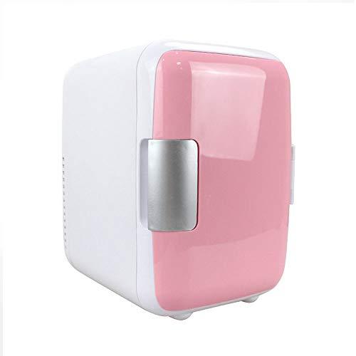 ank 12V 4 Liter Mini Bar 2 in 1 Kälte Thermoelektrisch Warmhalten Tragbar Klein Kühlschrank für Camping Auto Angeln, Pink ()