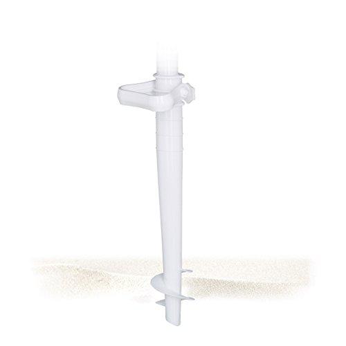 Relaxdays Bodenhülse Sonnenschirm für Stockgrößen bis 38 mm, Kunststoff, weiß, 10 x 10 x 43 cm, 10020907_49 (Kunststoff-dübel)
