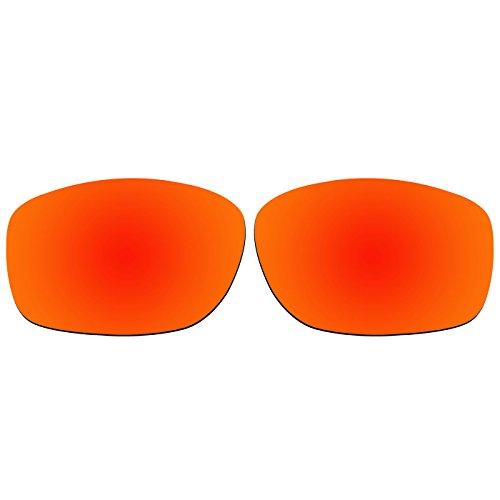 ACOMPATIBLE Ersatz-Objektive für Oakley Ten Sonnenbrille OO9128, Fire Red Mirror - Polarized