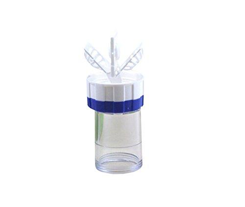 SAMGU Manuell Kontaktlinsen Scheibenreiniger Reinigungslinsen Koffer Eyewear Zubehör Reinigung Aufbewahrungsbox Farbe Blau + Weiß
