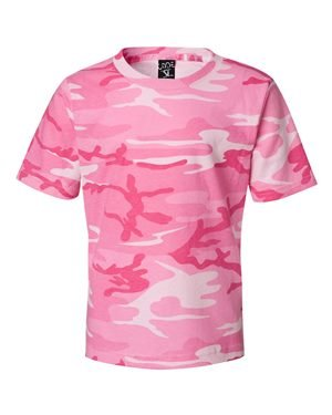 Youth Camouflage T-Shirt PINK WOODLAND S (T-shirt Camouflage Kids Woodland)