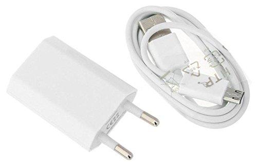 Reido Universal Micro-USB Ladegerät & Datenkabel für alle gängigen Samsung Modelle (z.B. Galaxy S5, Galaxy S6, Galaxy S7) | USB-Kabel | USB-Adapter Set | Ladekabel inkl. Netzteil in weiß