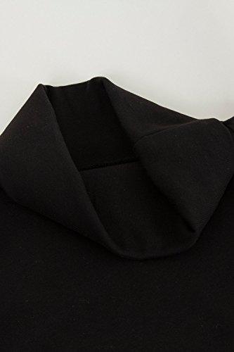 Ulla Popken Große Größen Damen Rollkragenpullover Shirtrolli Basic Anthrazit-Melange