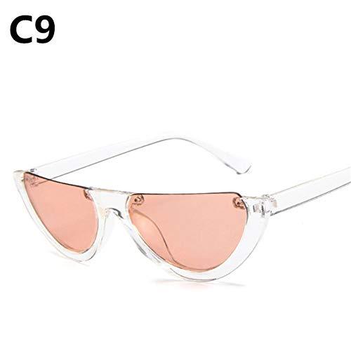 Passionate Truthahn Half-Box Cat Eye Sonnenbrille Damenmode Designer Sonnenbrille Sonnenbrille weiblich oculos de sol uv400, c9