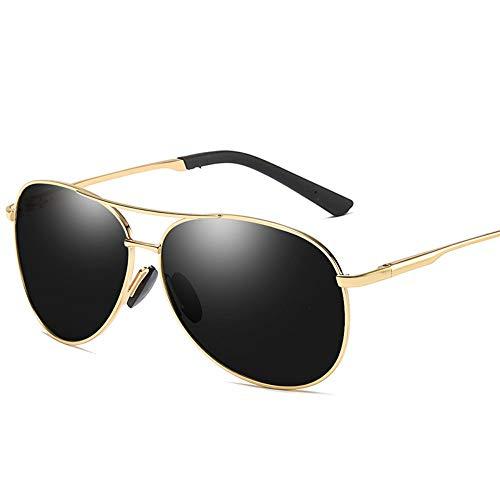 MoHHoM Sonnenbrille,Mode New Classic Polarisierte Sonnenbrillen Herren Retro Sonnenbrille Uv400 Gold Schwarz