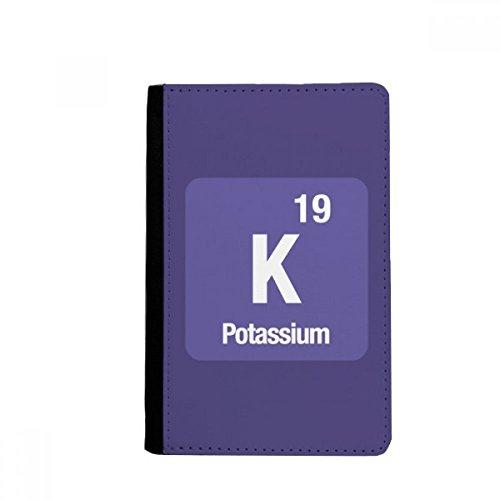 beatChong K Kalium Chemical Element Chem-Pass-Halter Travel Wallet Abdeckungs-Fall Karten-Geldbeutel
