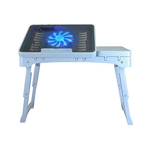 Qyzdzdz - Laptoptisch Laptop-Betttisch Schreibtisch mit Fan Höhenverstellbares Notizbuch mit...