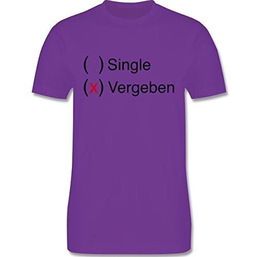 Statement Shirts - Vergeben - Herren Premium T-Shirt Lila