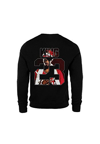 KING & QUEEN - SWEAT COL ROND KING 23 - King Lebron James Noir