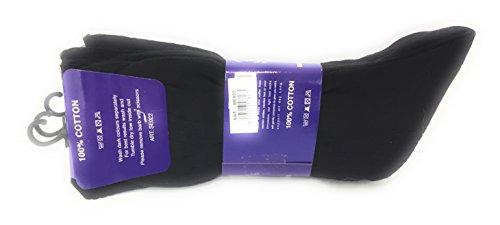 size UK 11-14 Mens Soft Top Rib Socks 12 pairs Mens 100/% Cotton Big Foot Diabetics Assorted Non-Elastic Socks BB10514A