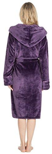 KATE MORGAN Damen Morgenmantel X-Large Violett