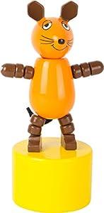 small foot design 10498 - Figura de Die Maus en un pequeño Pedestal, con Divertido botón