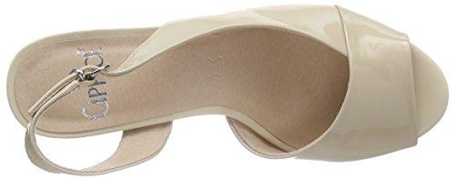Caprice - 28311, Scarpe col tacco con cinturino a T Donna Beige (Beige (SAND PATENT 302))
