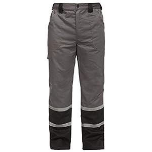 DINOZAVR Char Pantalones de Trabajo de Seguridad para Hombre – con Franja Reflectante de 2,5 cm