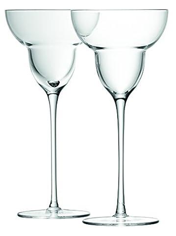 LSA International 250 ml Bar Margarita Glass, Clear (Pack of 2)