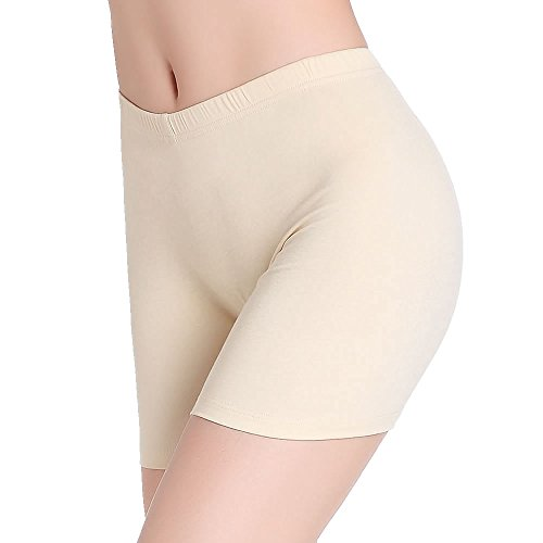 CnlanRow Women Under Skirt Shorts Soft Ultra Thin Stretch Short Leggings Safety Pants