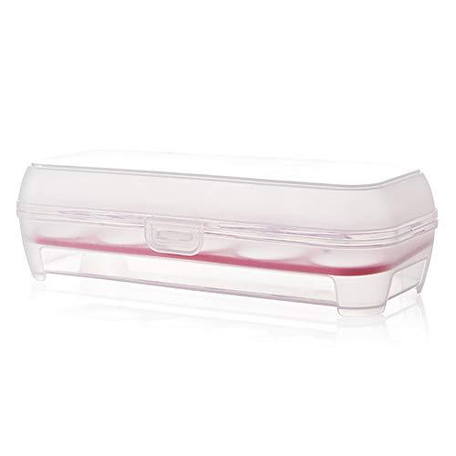 Chakil Eierbox, 10-Fach Eierdose Eierbox Aufbewahrungsbox Transportbox Eierhälter Eieraufbewahrung Eier Dose Box Eierbehälter Tragbare Plastikeibox Crisper eierschachteln eierkartons -