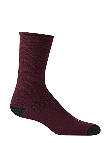 Farm to Feet Herren Arlington Ultralight Rolltop Crew Socken, Herren, Pflaume, Large -
