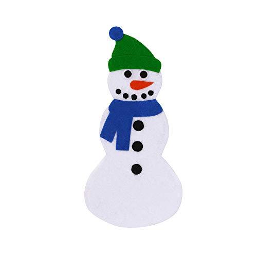 Rawdah* Christmas Snowman Cutlery Set Couverts Set 2 Pièces Bonhomme De Neige De Noël Placemat Tapis De Table Tapis Porte-Couverts Dîner Couverts Sacs