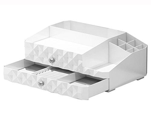 Étui cosmétique HWF Cosmetic Case Drawer Style Desktop Cosmétiques Boîte de Rangement Boîte à Bijoux Boîte de Finition Table de Toilette Plastique Organisateur
