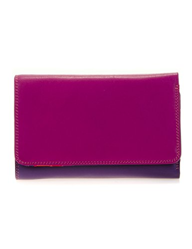Mywalit - leder damen Geldbörse - medium tri-fold w/outer zip purse - 363-75 - sangria -