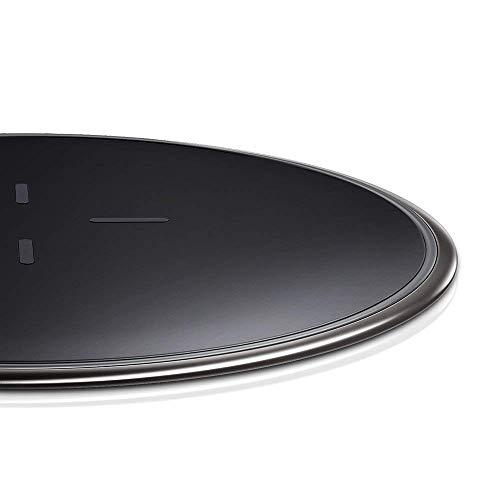 ESR Chargeur sans Fil Qi, 5W / 10W Chargeur à Induction, Station de Rechargement sans Fil [Garantie à Vie] [Alliage de Zinc] [Ultra fin] 5W pour iPhone XS / iPhone XS Max / iPhone XR / iPhone X / iPhone 8 / iPhone 8 Plus, [Charge Rapide] [Fast Charge] 10W pour Samsung Galaxy Note 9 / S9 / S9+ / S8 / S7 (sans chargeur secteur QC), Noir