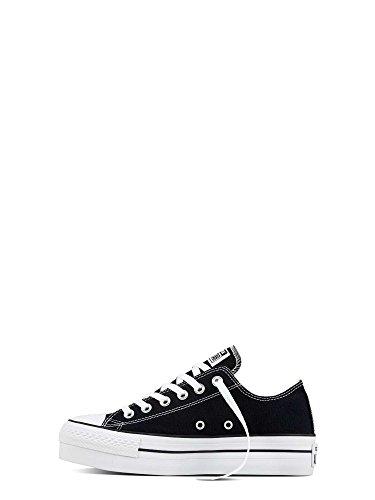 Converse Damen A/S Ox Platform Canvas Hohe Sneakers Schwarz (Black)