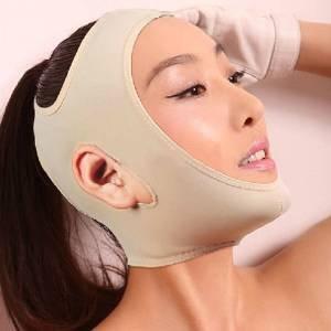 Aptoco Viso dimagrante Guancia Maschera, la cinghia della cinghia liscia traspirante compressione sottogola sostegno del (Letto Viso)