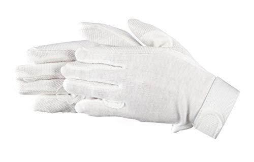Pfiff 011318 Unisex Handschuhe Baumwolle , Reithandschuhe, weiß (Weiss), M