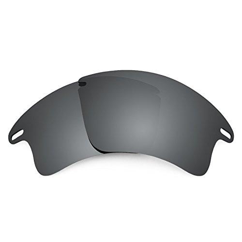 Revant Ersatzlinsen für Oakley Fast Jacket XL Polarisierung Elite Schwarz Chrom MirrorShield®