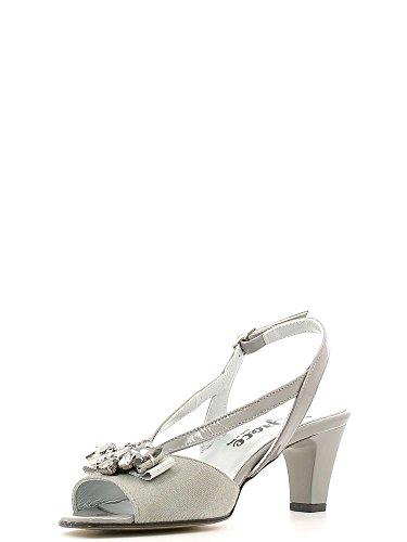 GRACE SHOES E6532 Sandalo tacco Donna Grigio