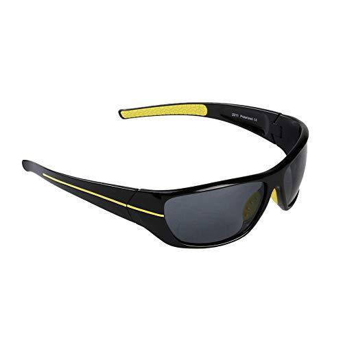 Yiph-Sunglass Sonnenbrillen Mode Polarisation Nachtsichtbrille Angeln Polarisationsbrille Hochwertige Sport-Outdoor-Radsport-Sonnenbrille (Farbe : Schwarz)