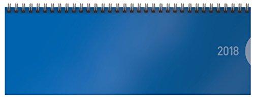 Preisvergleich Produktbild Tischquerkalender Classic Colourlux blau 2018: Bürokalender I 1 Woche 1 Seite I nützliche Zusatzinformationen I Format: 29,8 x 10,5 cm